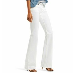 Cabi Jeans White Wide Leg 218 NWT 8 x 30 Ankle